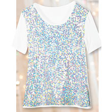 Iridescent Sequined Top