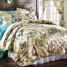 Butterflies in Flight Quilt Set & Accessory