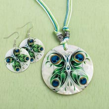 Luminescent Shell Jewellery Set