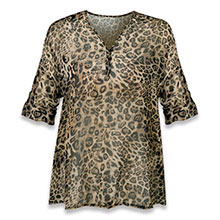 Leopard Chiffon Blouse