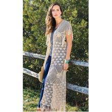 Long Fringe Crocheted Vest
