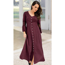 Claret Acid-Washed Dress