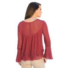 Romantic Sheer & Lacy Top