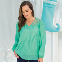 Elegant Lacy Pleated Top