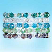 Crystal & Bling Bracelets - Set of 5