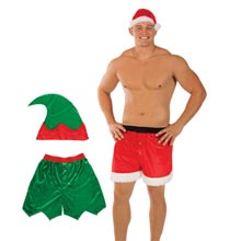 Holiday Boxers & Hat Set