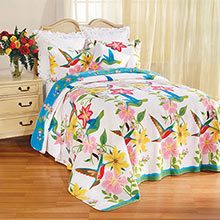 Hummingbird Garden Fleece Blankets & Accessories