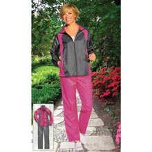 Grey Jacket/Pink Pant Slimming & Sporty Jog Set