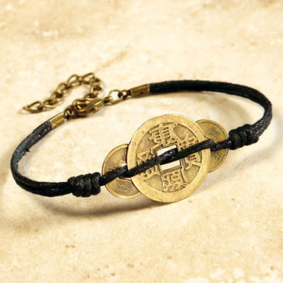 Lucky Coin Amulet Bracelet