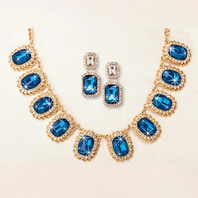 Blue Goddess Jewelry Set