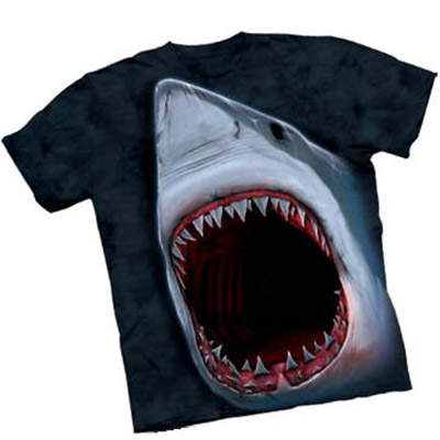 Shark Bite Attitude Adult Tee
