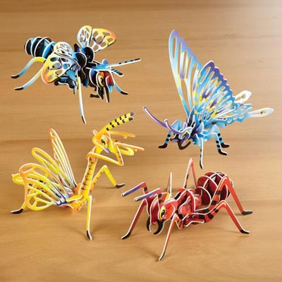 3-D Insect Puzzles