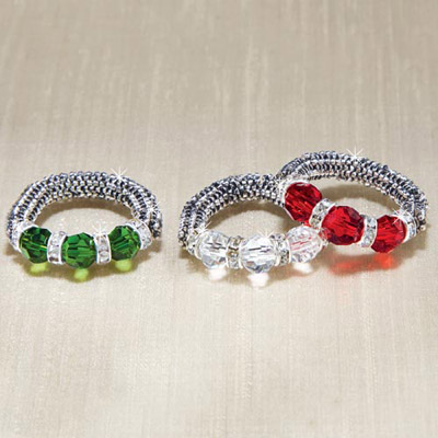 Holiday Crystal Stretch Ring