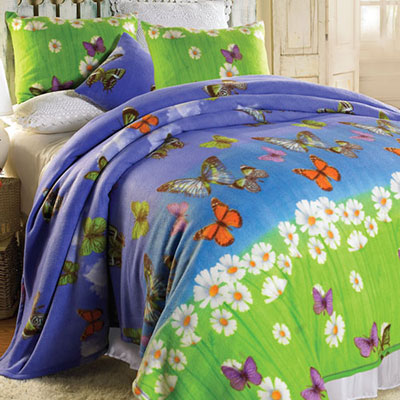 Butterfly Meadow Fleece Blanket & Accessories
