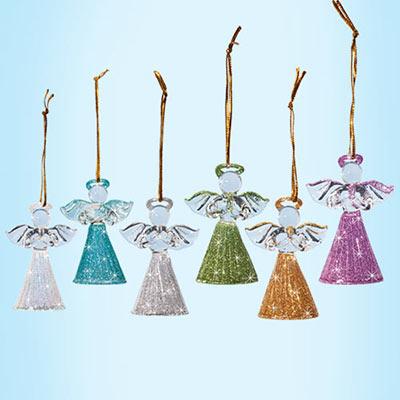 Handblown Glass Angel Ornaments