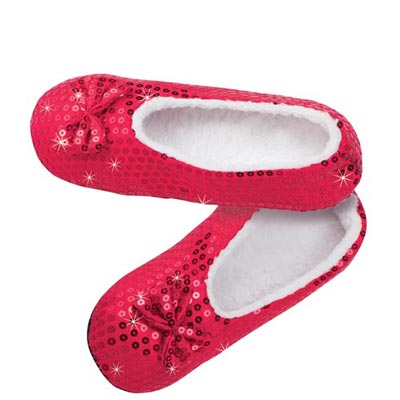Red Sequined Slippers