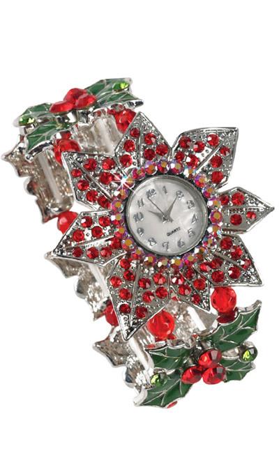 Poinsettia Crystal Watch