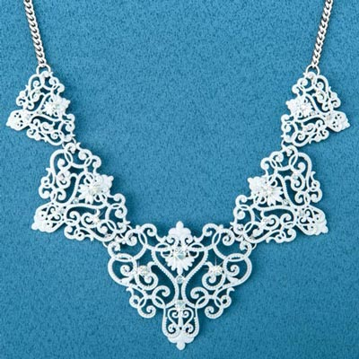 Faux Lace Necklace