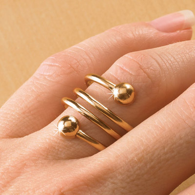 Gold-Tone Weight Loss Ring
