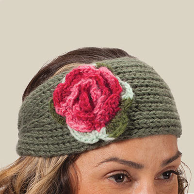 Pretty Posy Knitted Headband