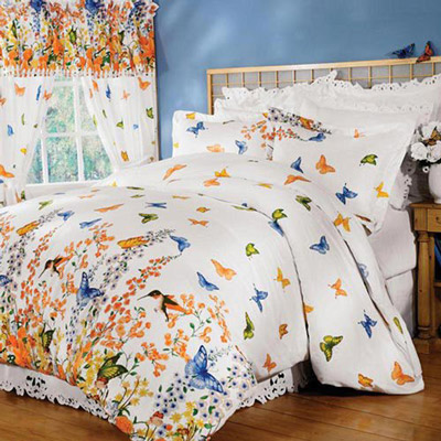 Butterfly Dreams Drapery Panel Pair with Tie-Backs