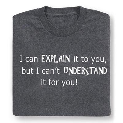 Explain It Tee