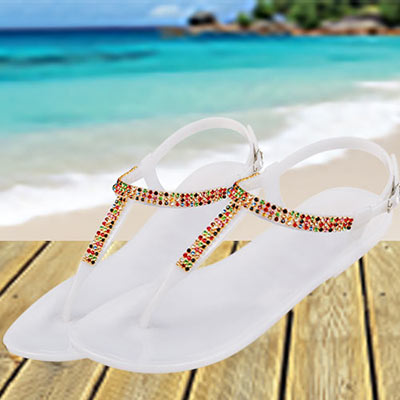 Colourful Crystal Sandals