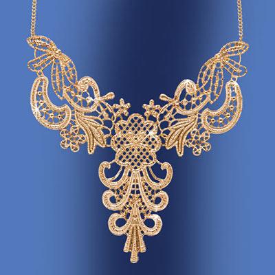 Golden Lace Necklace
