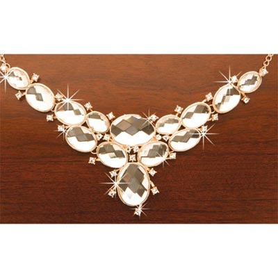 Cascading Bling Necklace