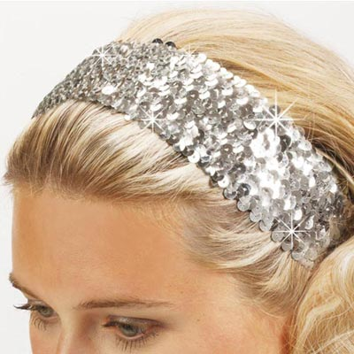 Silver Sequined Headband