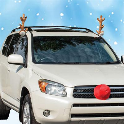 Reindeer Ride Car Decoration