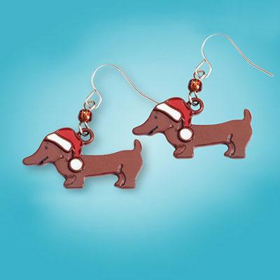 Christmas Doxie Earrings