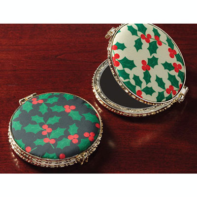 Holiday Pattern Double Compacts