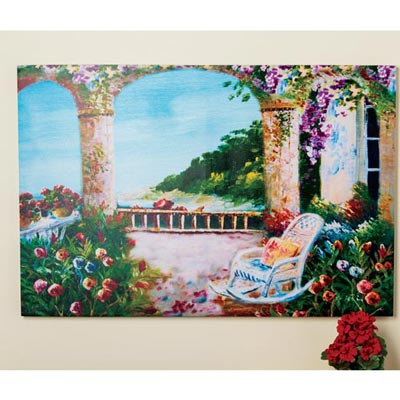 Mediterranean Arch Canvas Print