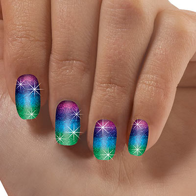 Glittering Stripe Nail Appliqués