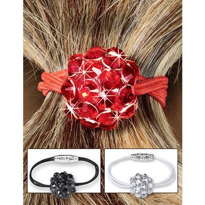 Dazzling Gems Ponytail Holders