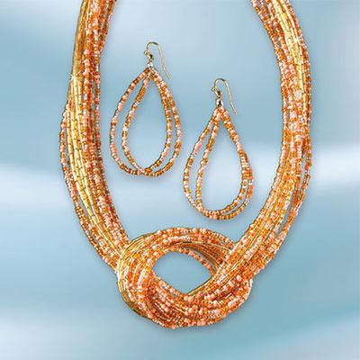 Sunkissed Beaded Jewellery Set