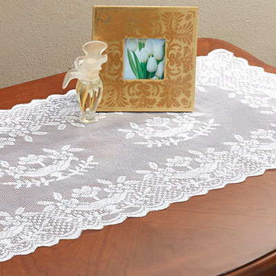Decorative Lace Rose Runner