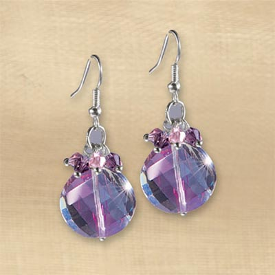 Aurora Borealis Purple Drop Earrings