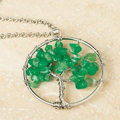 Tree of Life Chip Necklace