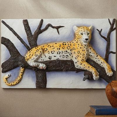 3-D Leopard Wall Plaque