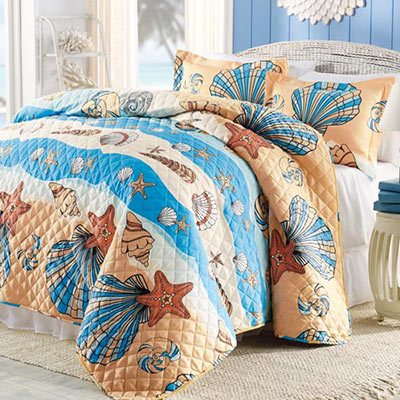 Seashells Quilt Set