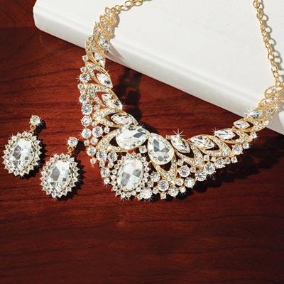 Extravagant Bling Jewelry Set