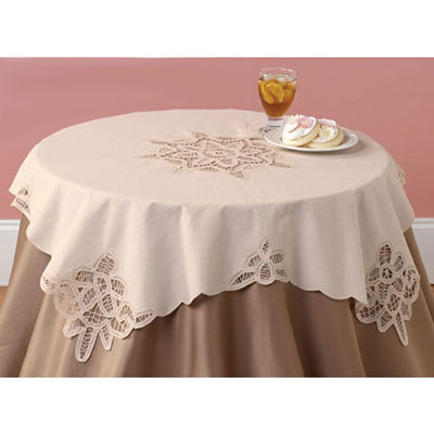 Battenburg Table Linens - Square Topper