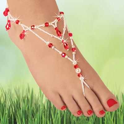 Blingy Barefoot Sandal