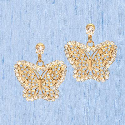 Sparkling Butterfly Earrings
