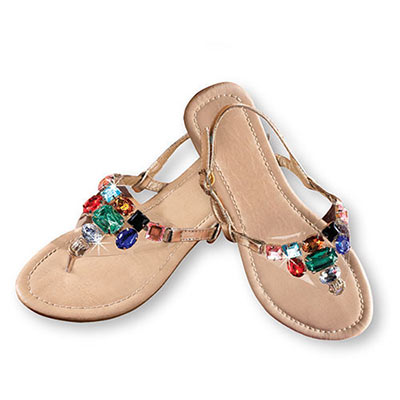 Jewelled Gold Sandals