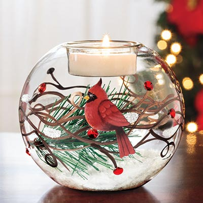 Cardinal Tealight Holder