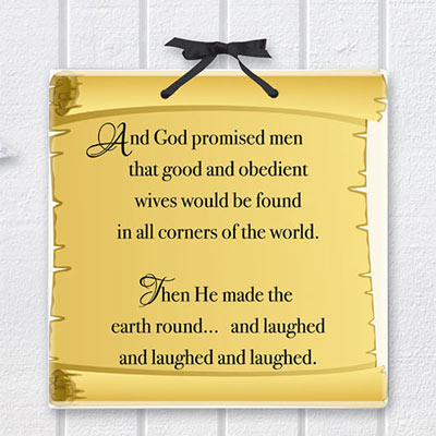 God Promised! Plaque