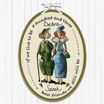 Personalized Best Friends Plaque